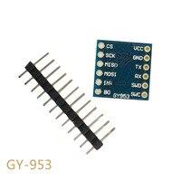 AHRS banda módulo brújula electrónica módulo de compensación de inclinación ultra pequeño puerto serie SPI interfaz GY-953 GY010