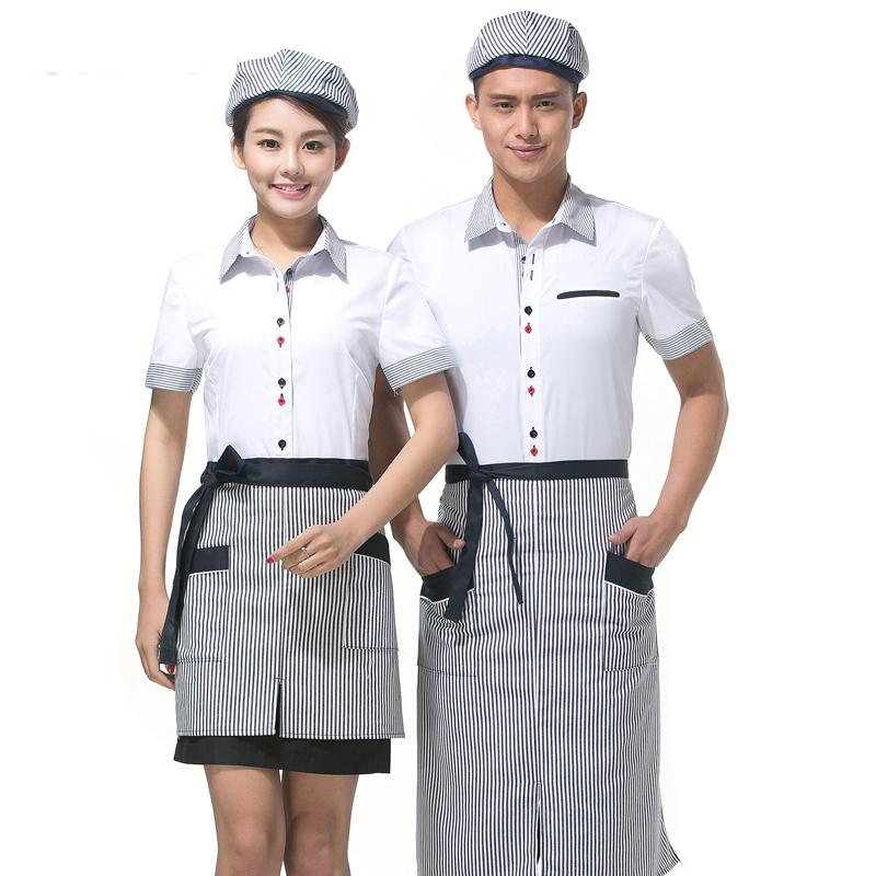 Hotel Server Workwear Summer Women Hotel Desk Clerk