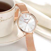 CURREN Hot Sale Saat Watches Women brand Fashion Dress Ladies Bracelet Watch Rose Gold Clock Gifts relogios feminino reloj mujer