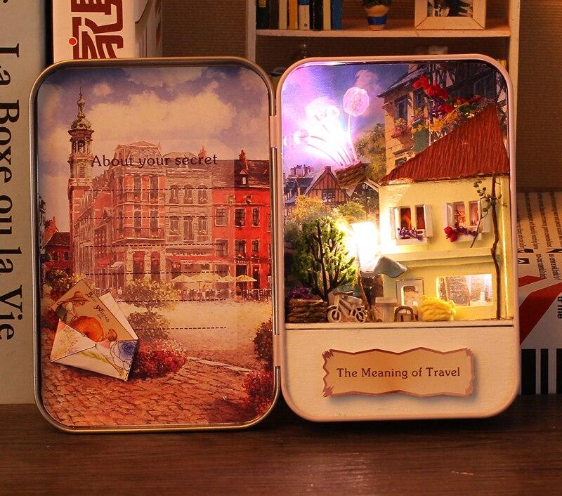 Significado de Travel Doll House Diy Miniatura 3D Puzzle de madera - Muñecas y peluches - foto 3