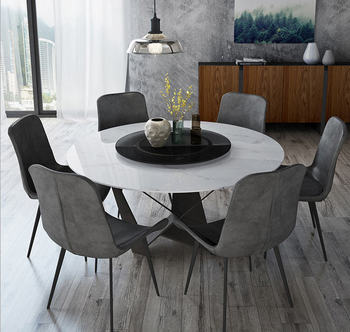 solid wooden Dining Room Set Home Furniture minimalist modern marble dining table and 6 chairs mesa de jantar muebles comedor jantar для волос