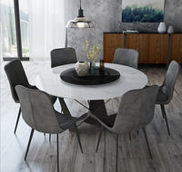 solid wooden Dining Room Set Home Furniture minimalist modern marble dining table and 6 chairs mesa de jantar muebles comedor