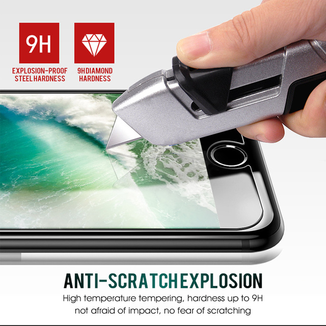 2 PCS Screen Protector Tempered Glass for iPhone X XS MAX XR 8 7 6