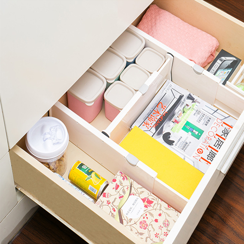 1pc Multi-function Storage Organizer Drawer Partitions Telescopic Household Partition Plastic Spacer Classified Separator Plate