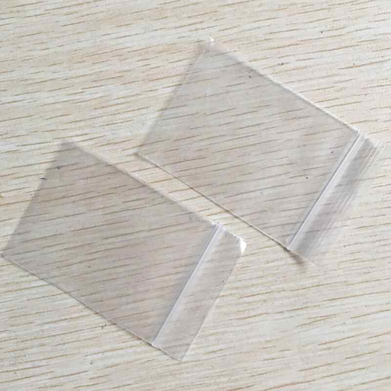 100 ชิ้นหนาหนาขนาดเล็กซิปล็อคถุงพลาสติกถุง Ziplock ซิปล็อคซิป Reclosable Clear กระเป๋าเก็บอาหารกระเป๋า