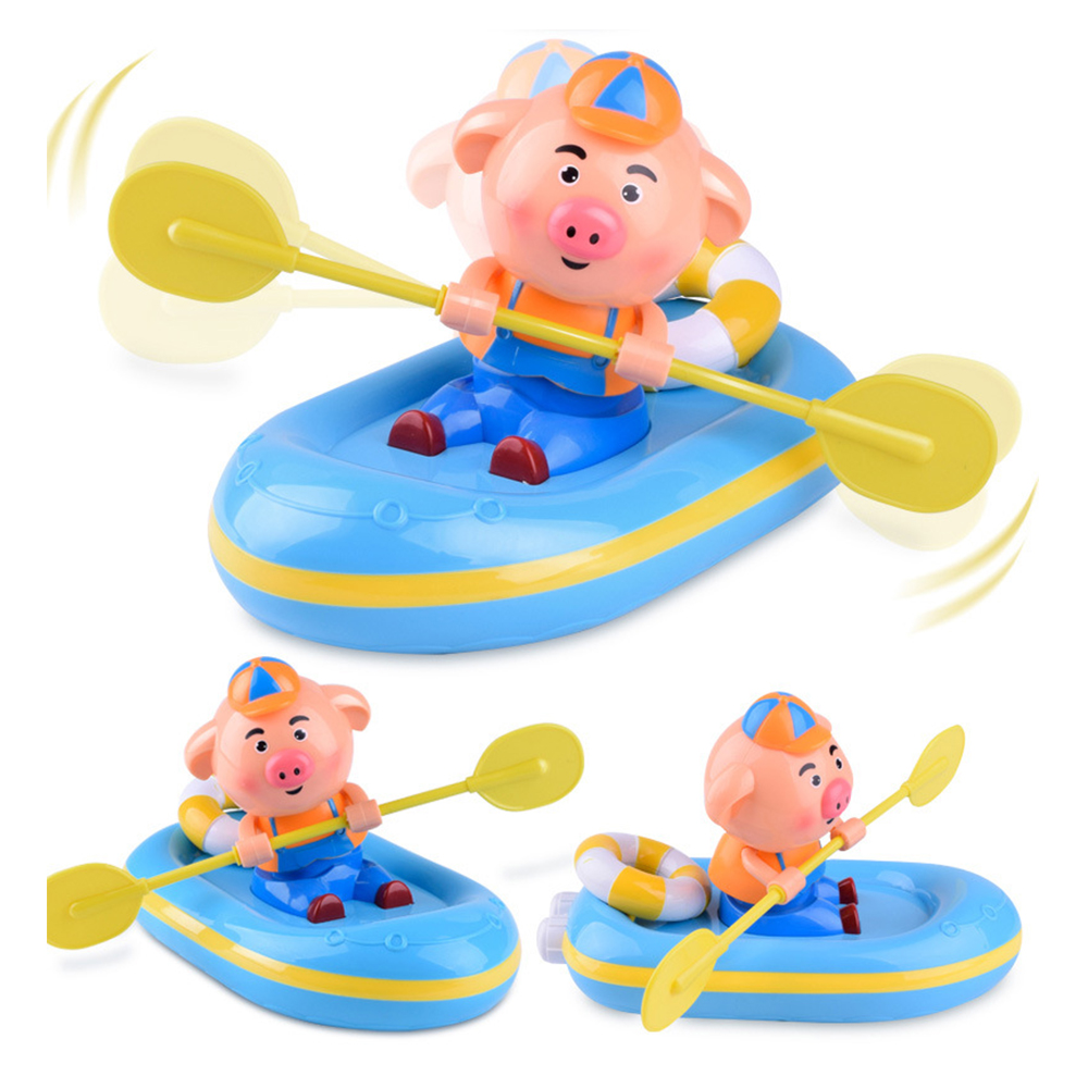 Electronic Toys Rowing Pig Bathing In The Water Kids Play Water Toy Gift Baby Swimming Pool Toy Shower Interactive Toys