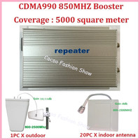 3W CDMA990 GSM 850MHZ Amplifier coverage 5000 sq.m. Mobile Phone Cell Phone Signal Booster Repeater Amplifier with antenna