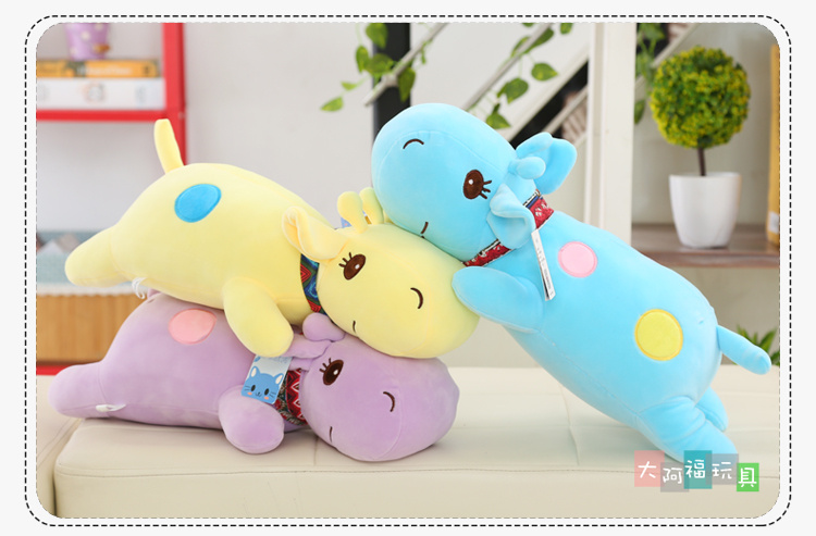 Giraffe Pillow Fresh Staffed Cute Cartoon Plush Toy Doll Good Quanlity PPT Cotton Kid Gift Lover Gift Free Shipping A-39