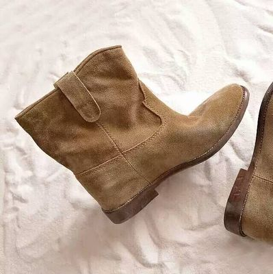 Welp LTTL New Arrival Black Gray Taupe Suede Ankle Boots Casual Style IC-21