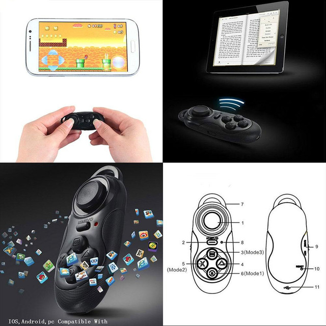 4 in 1 Bluetooth Remote Controller for IOS Android