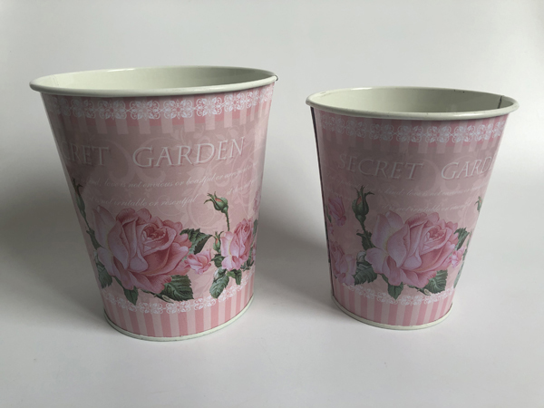 Image 5 - Small Vase Pots Metal Flower pot for dry flower Home decoration Wedding Pots S/2-in Flower Pots & Planters from Home & Garden