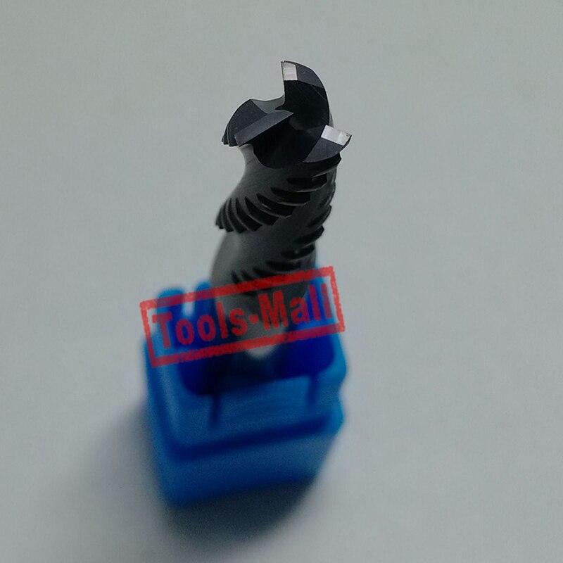 1 шт. 12 мм hrc55 D12* 45* D12* 100 3 флейты черновые концевые фрезы Спиральные долото фрезерные инструменты Карбид ЧПУ Концевая фреза