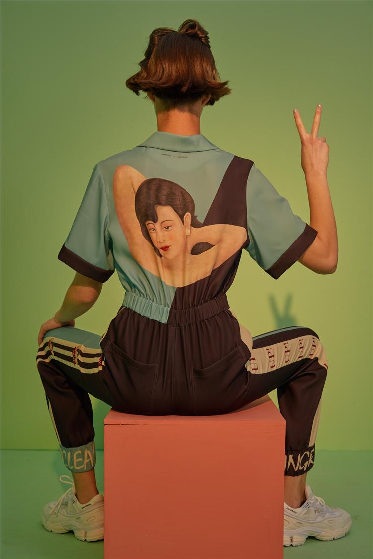Skin - Retro Rockabilly Jumpsuit Elastic Waist Vogue Hipster Rompers Short Sleeve