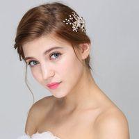 Fashion Jewelry Angel Design Crystal Flower Handmade Hair Combs Headbands Hair Jewelry For Women 2016 Hair