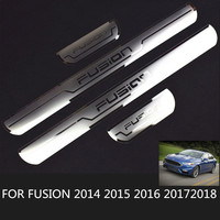 4pcs/Set For Ford FUSION 2018 Scuff Plate Guard Entry Door Guard Sills Car Sticker for Fusion 2014 2015 2016 2017 2018