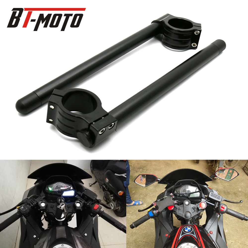 Universal Racing Adjustable CNC 31 32 33 35 36 37 39 41 43 50 51 MM Clip On Ons Fork Handlebars Handle Bar Cafe Racer Motorcycle