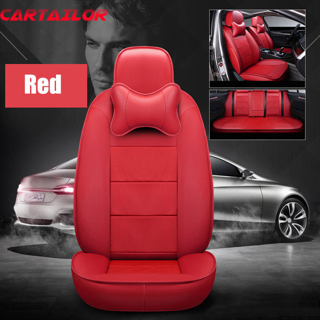 CARTAILOR Cowhide Leather Seat Covers Cars Styling For Jeep Patriot Car Cover Set Front