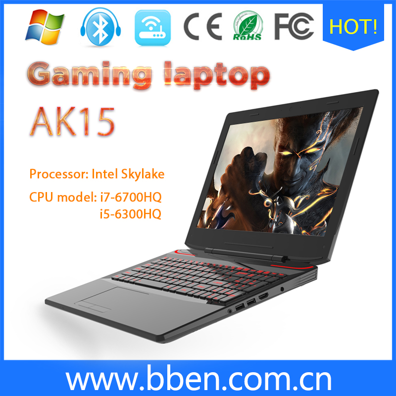 BBen 15.6Gaming laptop Intel Skylake i7 6700HQ CPU Win10 RAM DDR4 8G ROM SSD 128G HDD 1T Backlight keyboard Gaming PC Computer
