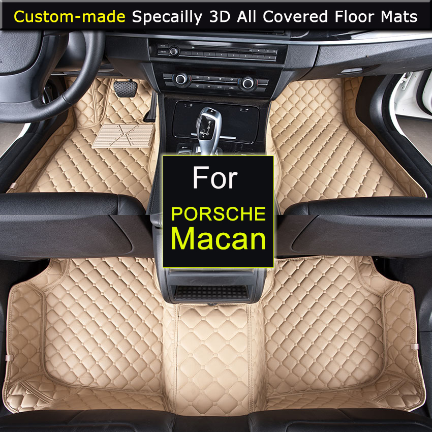 Specially for Porsche Macan Car Floor Mats Car Styling Foot Rugs Carpets 3D All-covered Waterproof Made for Macan