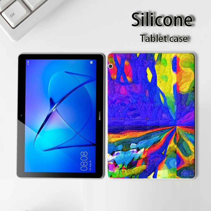 Окрашенные Чехлы для планшетов huawei MediaPad Медиа Pad T3 7 8 10 для почтовый ящик 2 8,0 9,6 KOB-L09 AGS-W09 L09 BG2-U01 крышка + бесплатная ручка