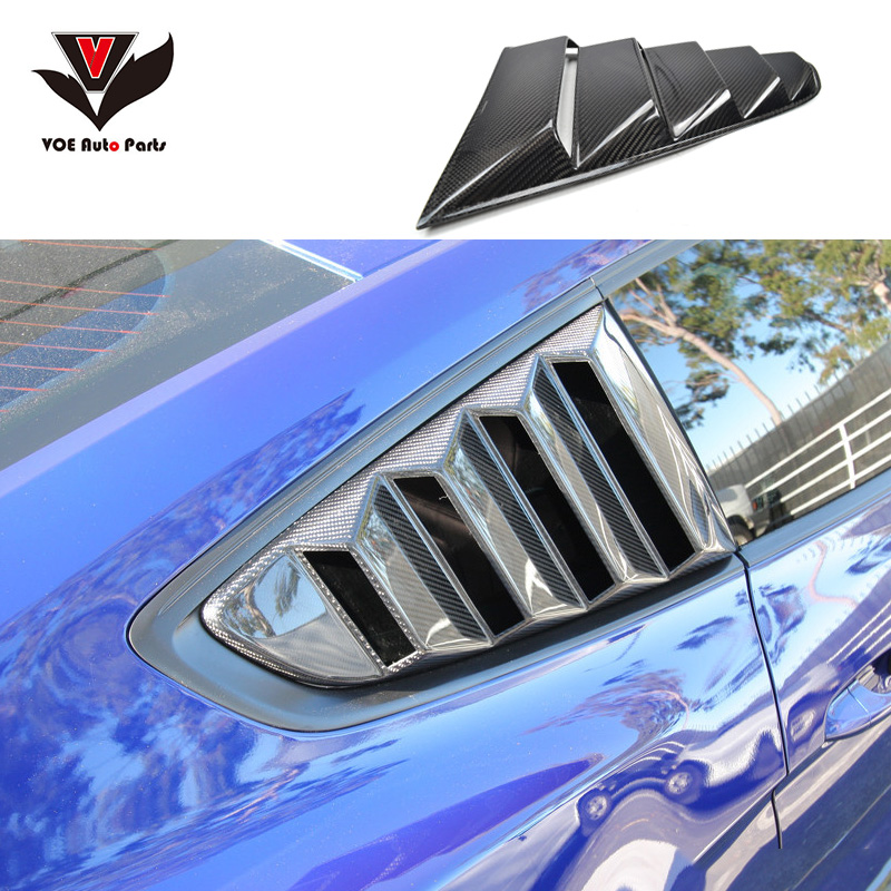 Mustang Carbon Fiber Auto Car-styling Side Window Air Vent Sticker for Ford Mustang 2015 2016 2017 top quality all real carbon fiber car inside air vent outlet lh rh decorative frames trims covers for 2015 2017 new ford mustang