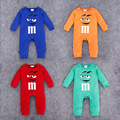 Baby Boy Spring Autumn Romper M&M Chocolate Cartoon Clothes Long Sleeve Baby Jumpsuit Baby Girl Cotton Outerwear Newborn Clothes