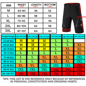 Image 3 - X Tiger Summer Mens Cycling Shorts Mountain Bike Downhill Shorts Loose Outdoor Sports Riding Road MTB Bicycle Short Trousers