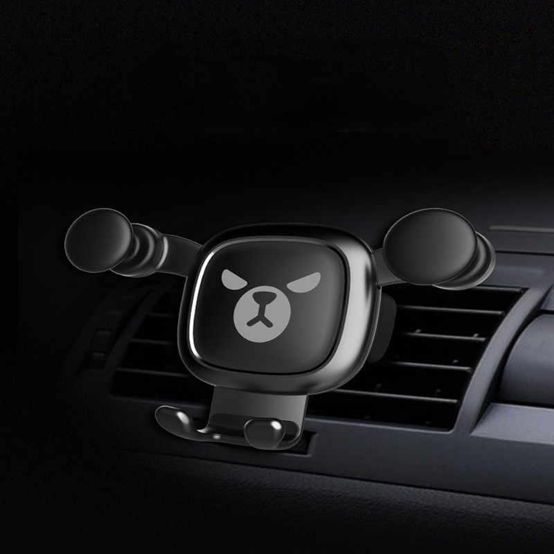Mobil Universal Ponsel Mount Pemegang Auto-Lock Disesuaikan Telepon Braket Auto Gravitasi Air Vent Smartphone GPS Dukungan