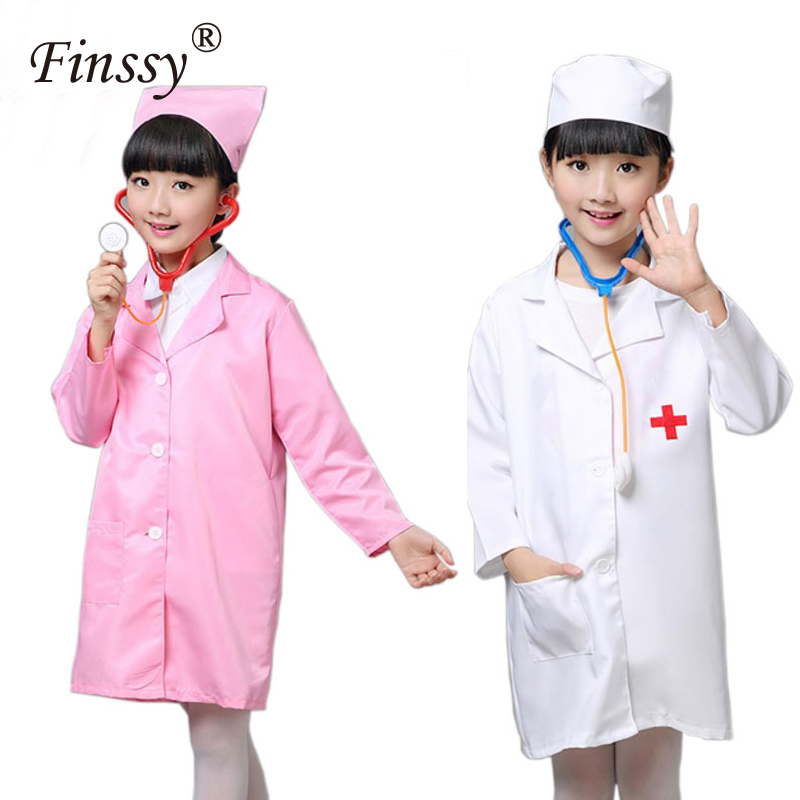 Little Girl Doctor Nurse Cosplay Costume Halloween Party Clothes For Kids