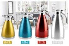 Hohe Qualität Edelstahl 1.5L/2L Tasse Percolator Stove Top Kaffeemaschine Isolierte Wasserkocher Entenschnabel Topf