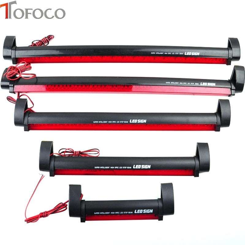 TOFOCO 12V 14 24 32 40 LED High Mount Stop Rear Tail Warning Light Lamp Red Car Auto Third 3RD Brake Light Parking transparent third brake light assembly chrome high mount brake stop warning lamp set for dodge ram 1500 2500 3500