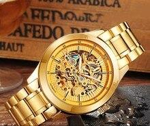 ANGELA BOS Skeleton Automatic Watch Mens Mechanical Black Stainless Steel Waterproof Luxury Watch Men Famous Brand Wristwatch