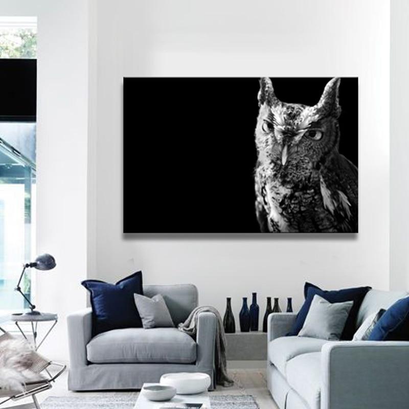 Sin marco del búho cocodrilo guepardo pintura de la lona modular ...