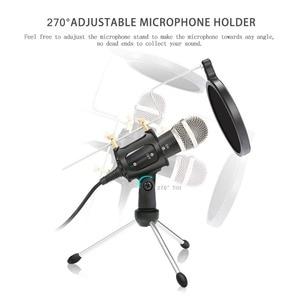 Image 3 - Microfone do telefone móvel microfone do condensador da gravação de lefon microfone para computador pc karaoke microfone titular para android 3.5mm plug