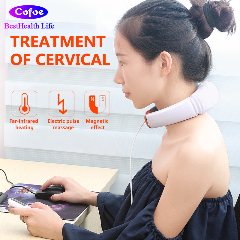 Cofoe Cervical Spondylosis Massager Neck Pain Hot Compress Physiotherapy Device Cervical Spondylosis Treament Body Relaxation cervical repositioning sense in subjects with non specific neck pain