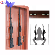 Adult Products Black Appeal Accessories Restraint Fetish Bondage Love Hanging Door Swing Chairs Sex Toys SM games For Couples adult sex swing restraint fetish bondage with adjustable soft straps love sex door swing sexy sling sex hanging toys for couples