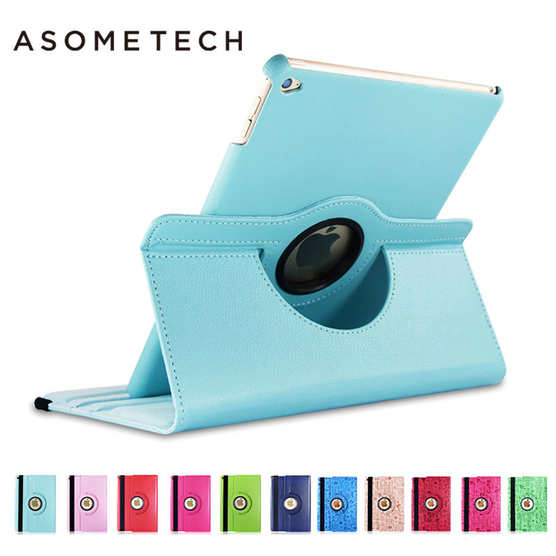 360 Degree Rotating Stand pocket Case For iPad 2 3 4 Retina Display Litchi pattern Cover For ipad Mini pro 9.7 10.5 12.9 Case ems free shipping 3d photo shop display rotating turntable 360 degree mannequin photography stand
