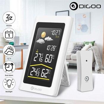 Digoo DG-TH11300スマートホーム屋外ウェザーステーション湿度計温度計デジタル予報センサー湿度温度センサー