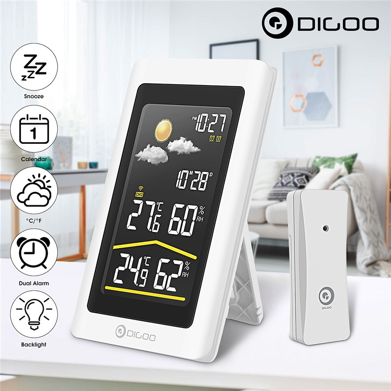 Digoo DG-TH11300 Smart Home Outdoor Weather Station Hygrometer Thermometer Digital Forecast Sensor Humidity Temperature Sensor все цены