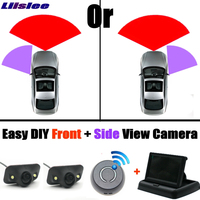 Front & Side All Car Camera Cigarette Power Variable Channel Blind Spots Invisible Areas Copilot Camera Monitor Parking System