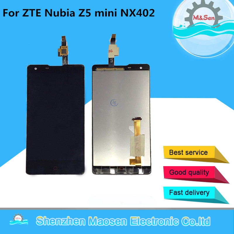 M & Sen Für ZTE Nubia Z5 mini NX402 NX402J LCD screen display + touch digiziter Ersatz für Für ZTE nubia Z5 mini/NX402 werkzeuge