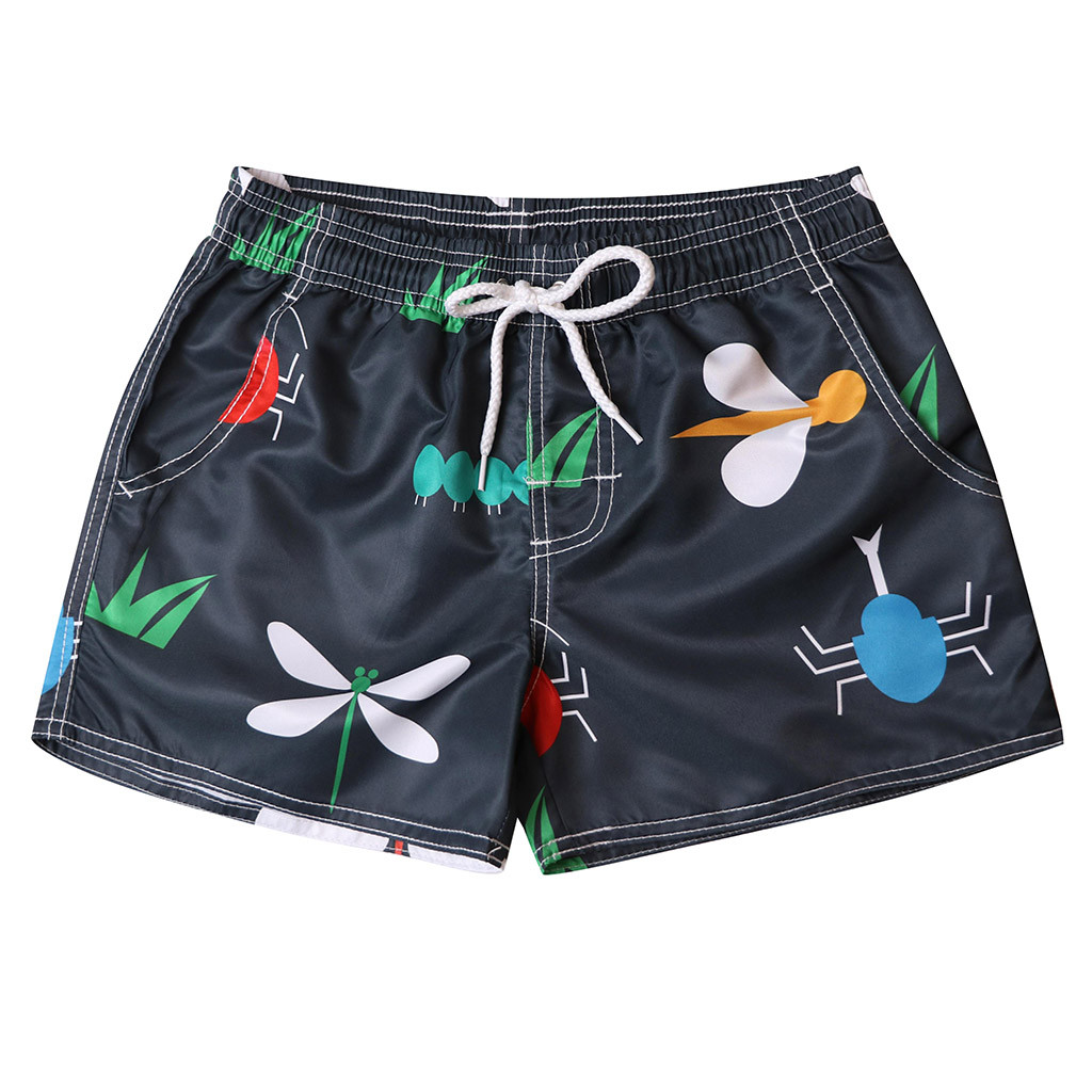 Womail Men's Shorts Swim Print Trunks Quick Dry Beach Surfing Running Swimming Watershort Casual Daily Denim Color Dropship J24