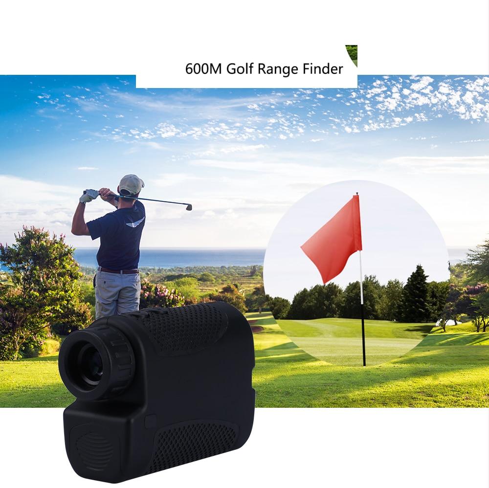 Telescope Laser Rangefinder 600m Laser Distance Meter 7x Monocular Golf Hunting Laser Range Finder Tape Measure