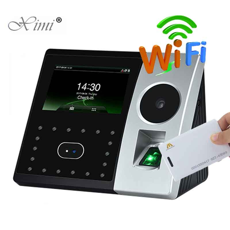 WIFI TCP/IP Palm And Face Time Attendance Pface202 Biometric Fingerprint Time Recorder And Access Control With RFID Card Reader