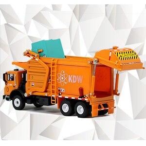 Image 5 - Легкосплавная тележка для мусора, литой Сплав, 1:24, материал для отходов, транспортер, модель автомобиля, хобби, игрушки для детей, рождественский подарок