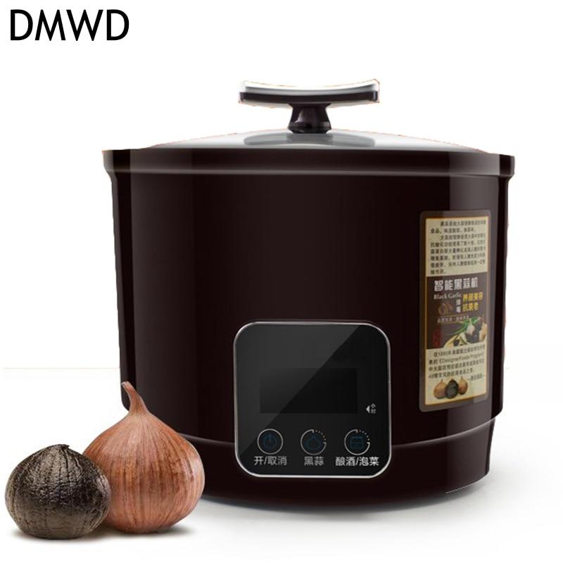 DMWD 90 W 6L Elettrico Domestico aglio Nero macchina Sottaceti maker Alluminio fodera Automatico Nero aglio fermentatore smart operatio