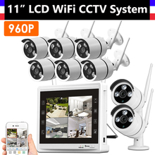 8CH Wireless Wifi 960P CCTV System with 11inch Monitor 8 Channel NVR + 8PCS 960P IP Camera Home Security Video Surveillance Kit