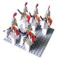 10 шт. Рим Воин Лев Конник Замок Рыцари Дракона с оружием Рыцарь верховая совместимы Building Block Кирпич рисунок