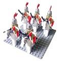 10pcs Rome Warrior Lion Cavalryman Castle Dragon Knights with weapon horse compatible Building Block Knight Brick figure