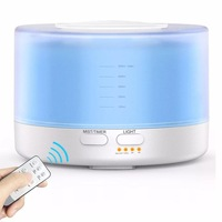 500ML Remote Control Oil Aroma Diffuser With 7 Changing LED Lights For Home Office Essential Oil